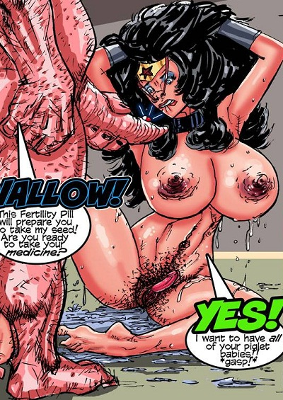 Superposer- Wonder Woman vs Porkum