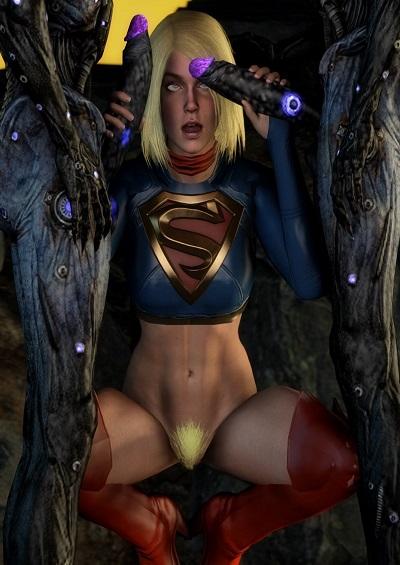(darkcet) SuperGirl vs the husk (Supergirl)