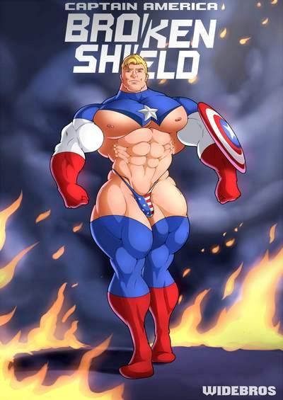 Widebros- Captain America Broken Shield [Avengers]