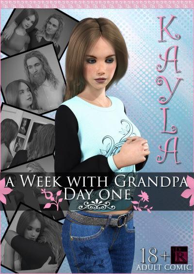 Kayla in A Week with Grandpa – Day One [3DRComics]