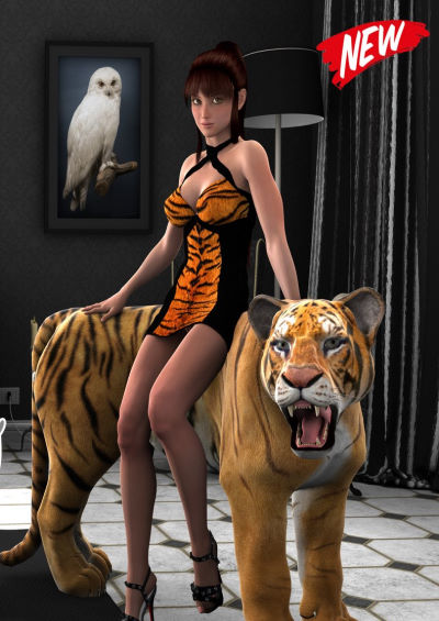 Wild Princess with Tiger [Extremexworld]