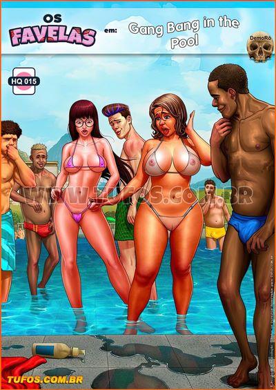 Tufos- Brazilian Slumdogs 15 – Gang Bang in the pool